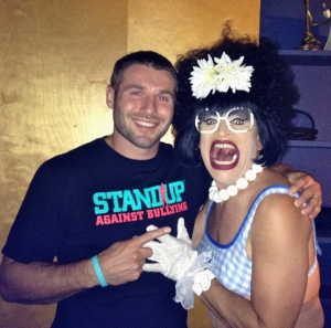 Ben Cohen and me, standing up!