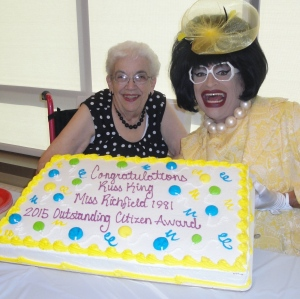 My mom Barb, me and the cake!